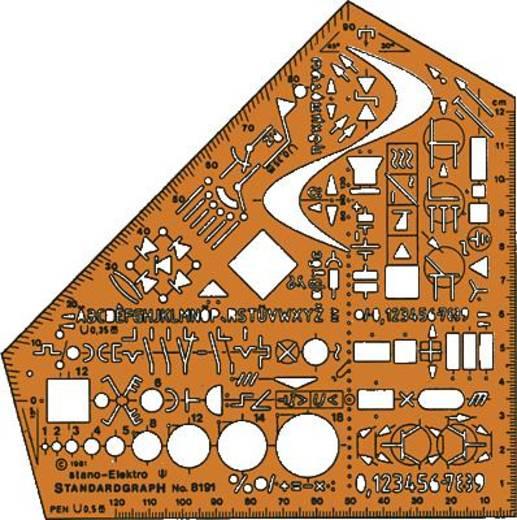 Standardgraph Schulwinkel stano-Elektro/8191 155x155x1,3mm