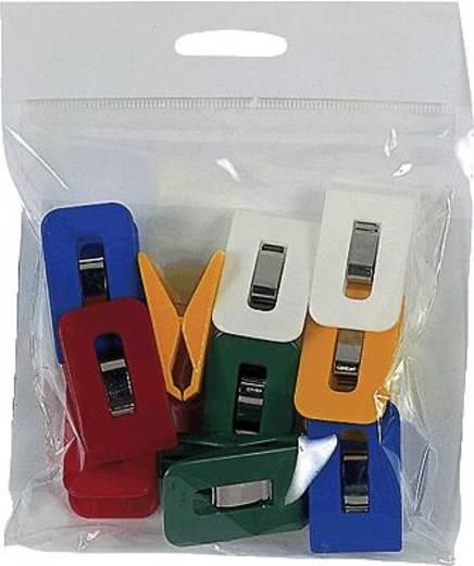 Laurel Aktenklammern/1111-95 25x43mm Grundfarben sortiert Sperrweite 19mm Inh.10