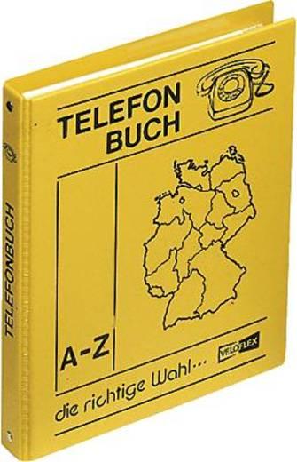 Veloflex Telefonringbuch/5158000 DIN A5 gelb PP-Leinenstruktur