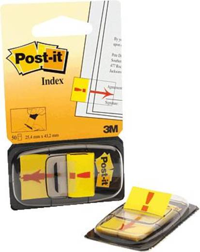Post-it® Index Symbole/680-33 25,4x43,2 mm Ausrufezeichen Inh.50