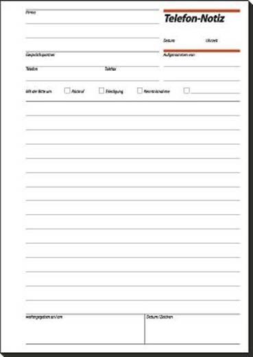 Sigel Telefon-Notiz/TN515 A5 h Inh.50 BL