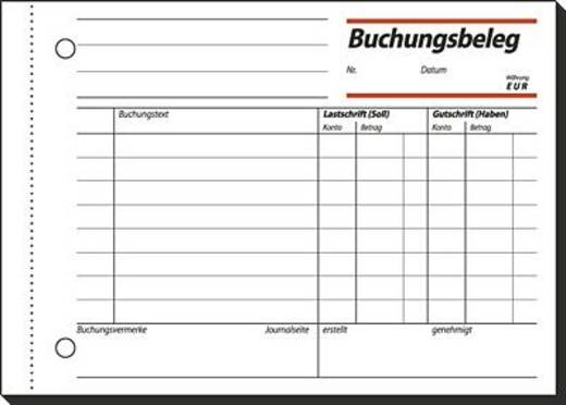 Sigel Buchungsbeleg/BU615 A6 q Mit Abheftlochung Inh.50 BL