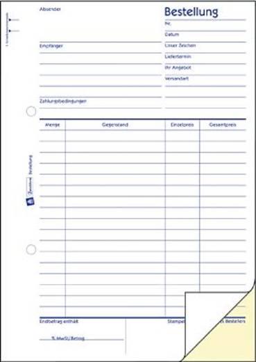 Zweckform Bestellung/1406 DIN A5 hoch weiß/gelb Inh.2x50 Blatt