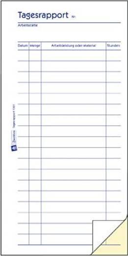 Zweckform Tagesrapport/1301 105x200 mm weiß/gelb Blaupapier Inh.2x50 Blatt