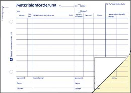 Zweckform Materialanforderung/1110 DIN A5 quer weiß/gelb Inh.2x50 Blatt