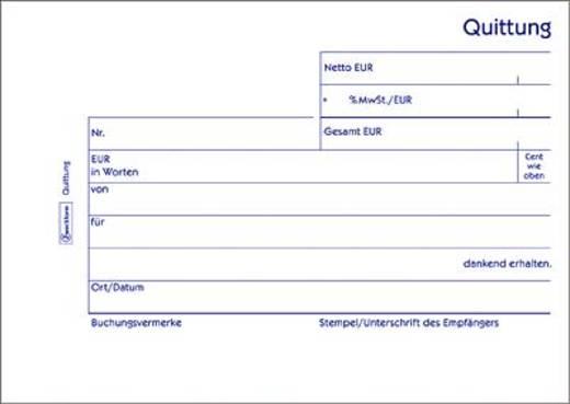 Zweckform Quittungen mit MwSt-Nachweis/333 A6 quer blau/weiß Inh.3x50 Blatt