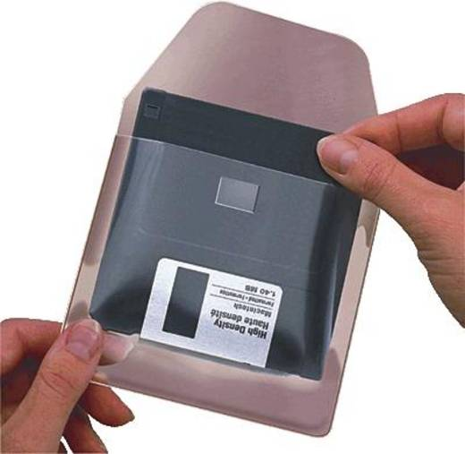 3L Diskettentaschen, selbstklebend/6830-10 105x100mm transparent Inh.10