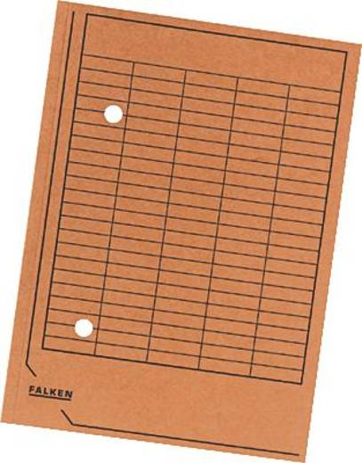Falken Umlaufmappen/80004211 DIN A4 orange Manila Karton 250g/qm