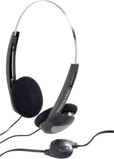 Basetech CD-1000VR Kopfhörer On Ear Lautstärkeregelung, Leichtbügel Schwarz