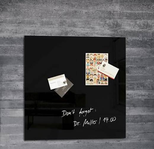 Sigel Glas-Magnetboard artverum/GL110 480x480x15 mm schwarz 3,1 kg