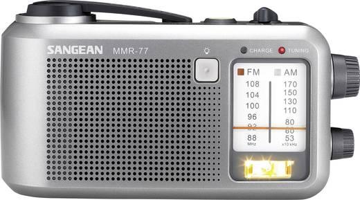 UKW Outdoorradio Sangean MMR-77 MW, UKW spritzwassergeschützt, Taschenlampe, wiederaufladbar Grau