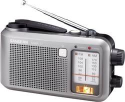 FM outdoorové rádio dynamom Sangean MMR-77, MW, UKW, sivá