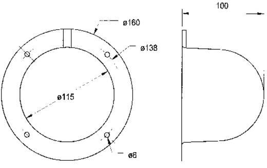 Visaton ABDECKH. AK 10.13 Lautsprecher Abdeckung (Ø) 100 mm
