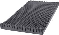 Akustická pěna GA25GO, (d x š x v) 1000 x 500 x 60 mm, polyuretan (PU), antracitová