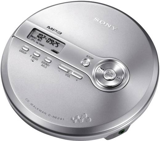 sony d ne241s tragbarer cd player silber cd cd r cd rw. Black Bedroom Furniture Sets. Home Design Ideas