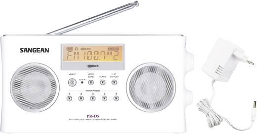 UKW Kofferradio Sangean PR-D5 Silber, Weiß