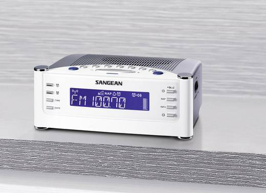UKW Radiowecker Sangean RCR-22 AUX, MW, UKW Weiß, Silber