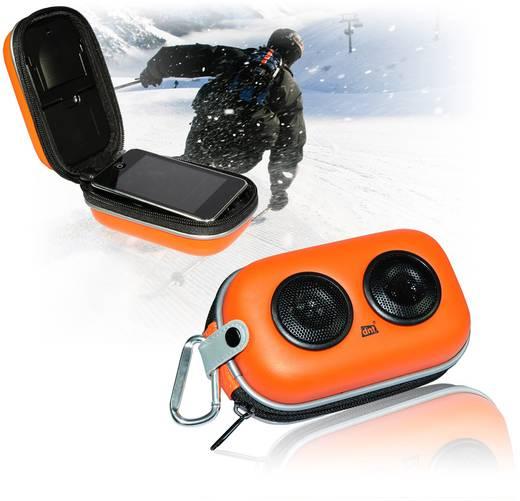 Mini Lautsprecher dnt SOUNDBOX X-01 AUX, Outdoor Orange