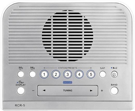 UKW Radiowecker Sangean RCR-5 AUX, MW, UKW Silber, Weiß