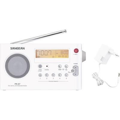 Sangean PR-D7 UKW Kofferradio MW, UKW Weiß Preisvergleich