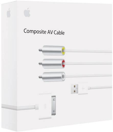 iPad/iPhone/iPod Datenkabel/Audiokabel [1x Apple Dock-Stecker 30pol. - 3x Cinch-Stecker, USB 2.0 Stecker A] 1.50 m Weiß