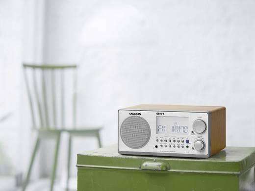 UKW Tischradio Sangean WR-2 AUX, MW, UKW Walnuss, Silber