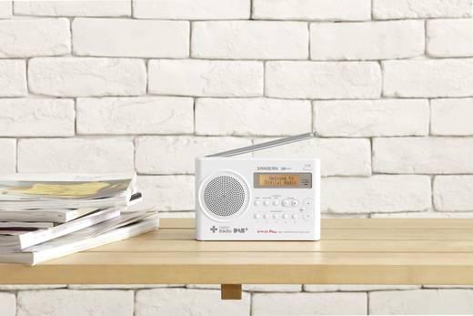 Sangean DPR-69+ DAB+ Kofferradio DAB+, UKW Akku-Ladefunktion Weiß