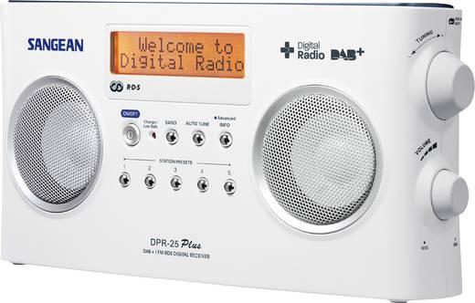 Sangean DPR-25+ DAB+ Kofferradio AUX, DAB+, UKW Akku-Ladefunktion Weiß