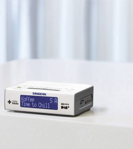 DAB+ Radiowecker Sangean DCR-89+ AUX, DAB+, UKW Weiß