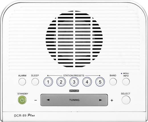 Sangean DCR-89+ DAB+ Radiowecker AUX, DAB+, UKW Weiß