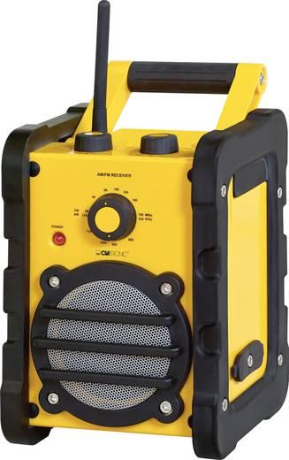 UKW Baustellenradio Clatronic BR 816 AUX, MW, UKW spritzwassergeschützt, stoßfest Gelb, Schwarz
