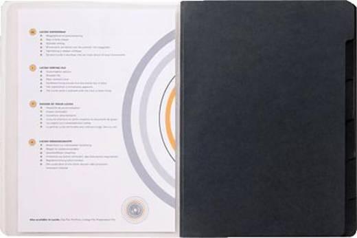 Jalema Ordnungsmappe Lucido/1400619 DIN A4 schwarz PP / Karton 270 g/qm