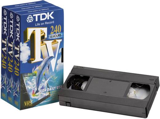 videokassette vhs tdk 240 min 5er set kaufen. Black Bedroom Furniture Sets. Home Design Ideas
