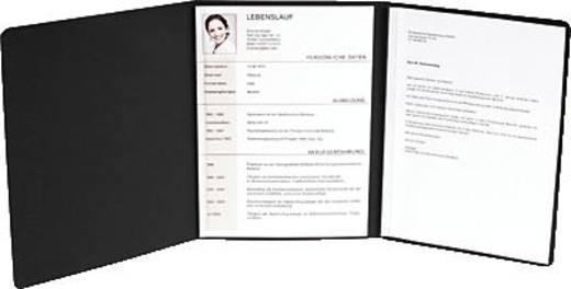 Exacompta Bewerbungsmappe Karton/49751B schwarz 400 g/qm