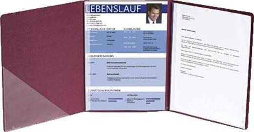 Exacompta Bewerbungsmappen Leinenstruktur/49408B bordeaux 400 g/qm
