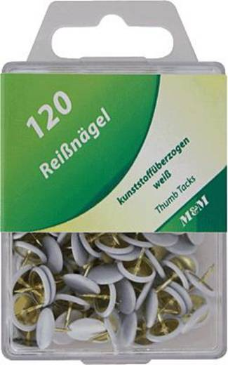 M&M Reißnägel 120 Stück in Hängedose, weiß/64250802SP 120 Stück in Hängedose