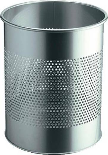 Papierkorb 15 l Durable (Ø x H) 260 mm x 315 mm Silber 1 St.