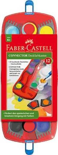 FABER-CASTELL Deckfarbkasten Connector 24er mit Deckweiß/125031 24