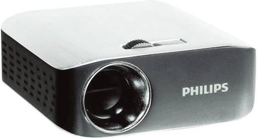 DLP Beamer Philips PicoPix 2055 Helligkeit: 55 lm 854 x 480 WVGA 1000 : 1 Silber