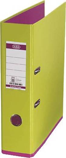 ELBA Ordner myColour PP/10489GH/PI B285 x H318 mm hellgrün/pink 80 mm