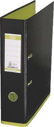 ELBA Ordner myColour PP/10489SW/GH B285 x H318 mm schwarz/hellgrün 80 mm