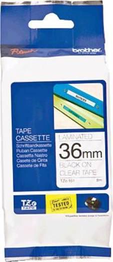 Schriftband Brother TZe TZe-161 Bandfarbe: Transparent Schriftfarbe:Schwarz 36 mm 8 m