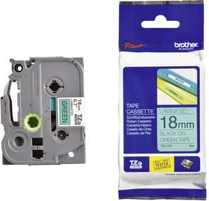 4 Schriftbänder kompatibel zu Brother P-Touch TZE-741 8m//18mm Schwarz auf Grün