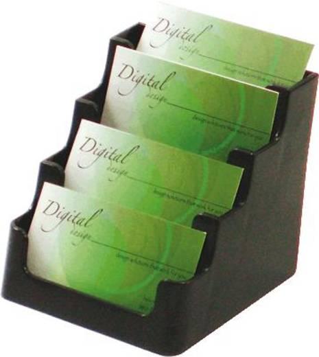 Deflecto Visitenkartenhalter/DE70404 bis 4 x 60 Karten 4 Fächer