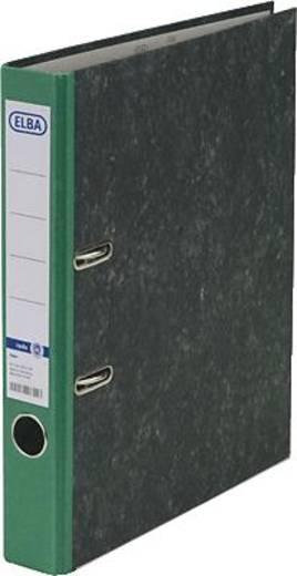 ELBA Ordner rado basic, Wolkenmarmor/10425GN für DIN A4 grün