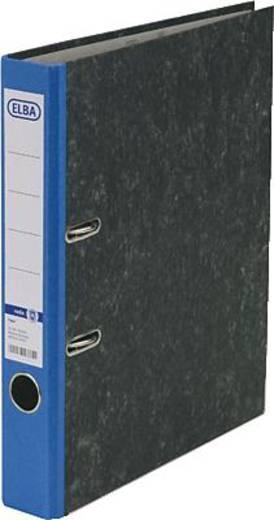 ELBA Ordner rado basic, Wolkenmarmor/10425BL für DIN A4 blau