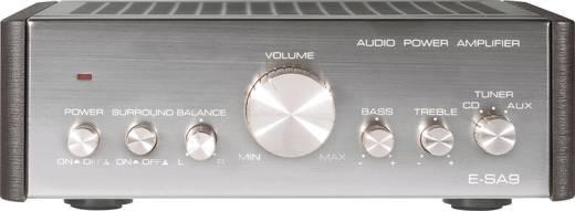Stereo-Verstärker Renkforce E-SA9 2 x 12 W Silber (metallic), Dunkel-Braun