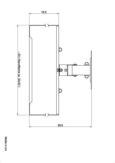 Beamer-Deckenhalterung Starr Boden-/Deckenabstand (max.): 25 cm 2042582 Silber (matt)
