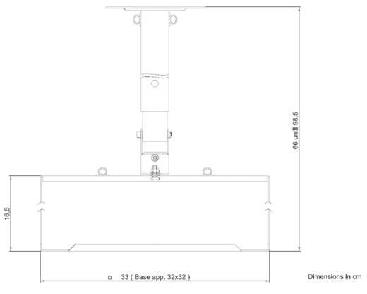 Beamer-Deckenhalterung Neigbar Boden-/Deckenabstand (max.): 90 cm 2042583 Silber (matt)