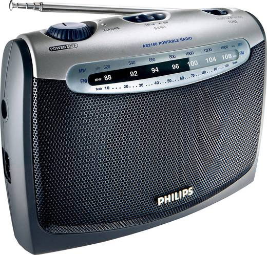 UKW Kofferradio Philips AE 2160 Anthrazit